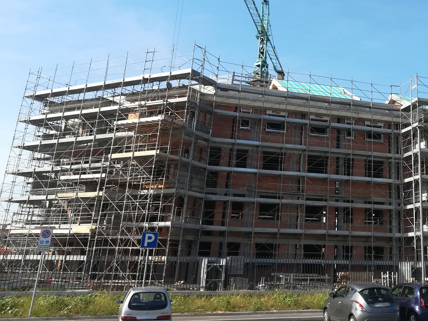 Cantiere Alpacom ad Agrate